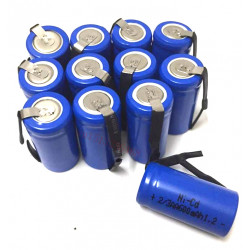 12 wiederaufladbare Batterie 2 / 3AA Ni-Cd 600 mAh 1,2 V Energieklasse A ++ Nickel-Cadmium