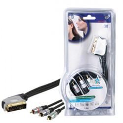 Hqss scart . 3x cinch component rgb anschlusskabel