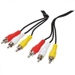 Audio -video-kabel 3 cinch- stecker auf 3 cinch-stecker 1,5 m langes kabel schnur -521 kamera-überwachung konig