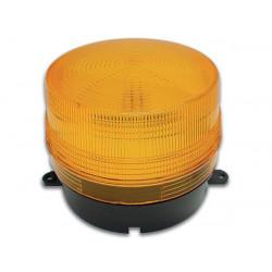 Flash alarma electronico xenon ambar 12vcc ø100x80mm haa100a flashs alarmas electronicas ambars