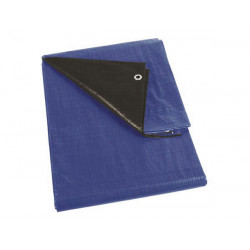 Bache bleu noir super résistante 3x4m tres solide 261-34 resiste dechirure protection piscine perel