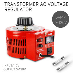 Transformateur de tension Régulateur de tension variable CA 5 amp auto, 500VAC max 120VAC 0-120V / 130VAC
