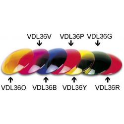 Filtro de color rojo vdl36r filtros rojos efecto de luz