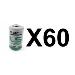 60 saft litio 3,6 v 1/2 aa ls14250 tl5902 tl5151 tl5101 tl4902 ls 14250 sl350 sl750 lct1200
