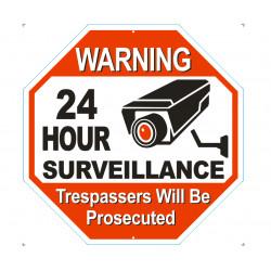 Segnaletica segnaletica spazio cartellone videosorveglianza jw-ws-008