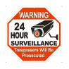 Panneau signalisation affichage panneau espace video surveillance jw-ws-008