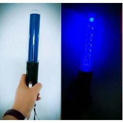 Baton lumineux 26cm led verte + batterie rechargeable + chargeur 220v 5v support magnetique