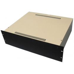 Aluminiumgehäuse retex 363 3u-rack 19 'fassade schwarzen halterungen ohne griffe
