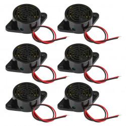 6 x 95dB Alarm High-Dezibel-3-24V 12V Elektronische Summer Dauerton für Arduino SFM-27