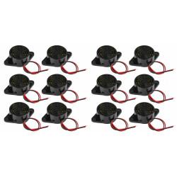 12 x 95dB Alarm High-Dezibel-3-24V 12V Elektronische Summer Dauerton für Arduino SFM-27
