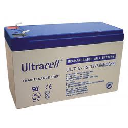 Batterie rechargeable 12v 7.5ah ul7.5 12 accu plomb 7ah 7.2ah gel solaire accumulateur etanche