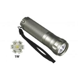 Lampe torche led 1w coffre alu metal eclairage puissant lzll113/1w zll501 boîtier aluminium