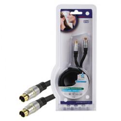 Cable cordon s vhs mâle vers s vhs mâle hqss2524/1.5 double blindage plaque or haute qualite hq
