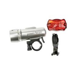 Kit di illuminazione a led per bicicletta ebl ebl10 luce 5 led bianco 5 led rossi perel