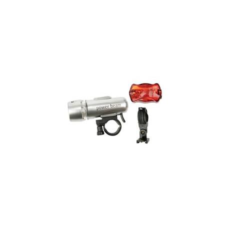 Led lighting kit ebl ebl10 bike bicycle light 5 white led 5 red leds perel