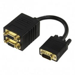 Repartiteur 2x vga-kabel vga-kabel 15cm vergoldet 560