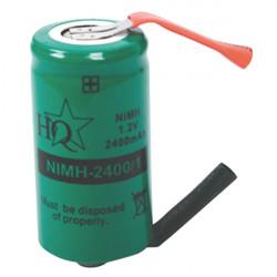 Nimh-batterie-speicher nimh 2400/1 hq 1.2v 2400mah löten