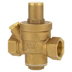 Limitar reductor de presión de agua 1/2 ff 15/21 dn15 manómetro válvula reguladora de gas combustible de la válvula