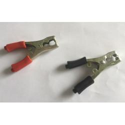 2 tole coccodrillo clip in metallo cavo di ricarica cavo per l'avvio automatico della batteria 40a