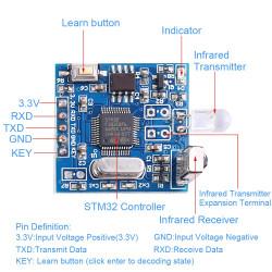 Allgemeines Infrarot-Dekodierungsmodul UART-Controller IR Remote Copyer-Unterstützung Klimaanlage YS-IR05F