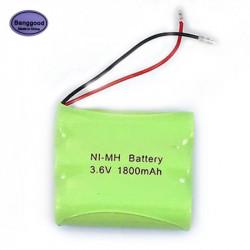 Batterie Rechargeable Ni-MH AA 3.6V 1800mAh avec prises pour téléphone sans fil