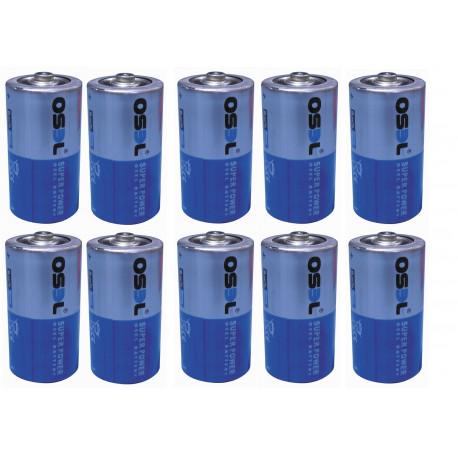 10 pile 1.5 lr14 c (r14 1.5v) pile alcaline alimentazione C, AM2, LR14, 14A, E93, MN1400, 814, 4014