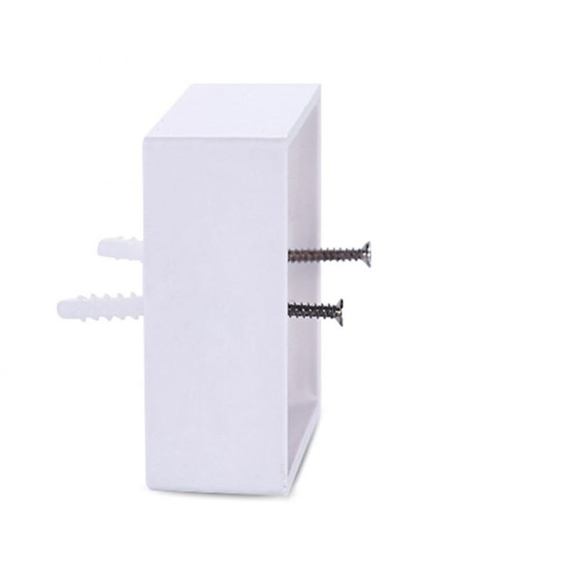 ruiruiNIE 86X86 PVC Caja de Conexiones de Montaje en Pared Casete para la Base del z/ócalo del Interruptor