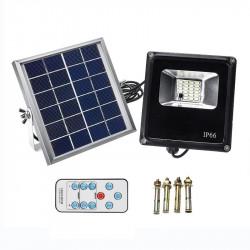 Proiettori solari impermeabili 20W Telecomando + Timer + Controllo illuminazione