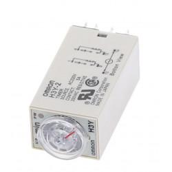 Rele temporizado electrico (trabajo o reposo) 220vca 2 contactos inversores 5a 220v