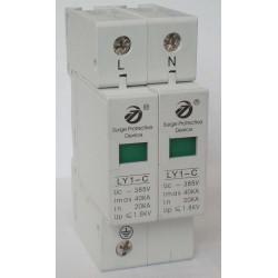 Oleada eléctrica 275v 220v din rail 2 oleada poste pararrayos tipo 2 40ka ly1 c40 2p