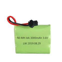 Batterie rechargeable 3.6v 3000mAh NiMH AA 3.6 v 700mah 1000mah 1500mah 2000mah 2500ma Bateau