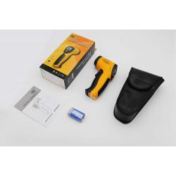Thermomètre infrarouge numérique sans contact laser -50 °C ~ 380 °C avec pile et housse