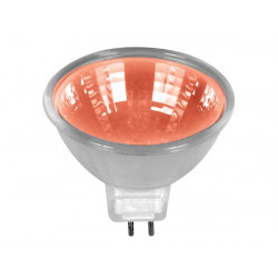 Halogen lamp 50w 12v, red, mr16