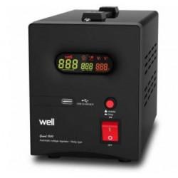 Stabilisateur de tension automatique avec relais 1500VA noir AVR-REL-GUARD1500-WL 220v regulateur secteur