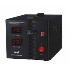 Stabilizzatore di tensione automatico con servomotore Secure 500VA, Well AVR-SRV-SECURE500-WL