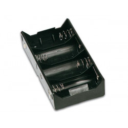 Battery holder for 4 x d cell (with solder tags)