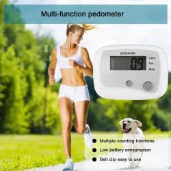 Podómetro digital Medidor de pasos y distancia de calorías Precisión de 5 dígitos