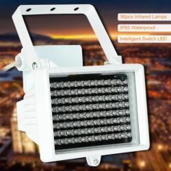 Projecteur lumière infrarouge 96 LED 60m 12v illuminateur vision nocturne éclairage  extérieur étanche