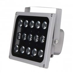 Projecteur Infrarouge Étanche IP65 12v 15 LED 50m Illuminateurs Lumière Lampe Vision Nocturne Pour CCTV