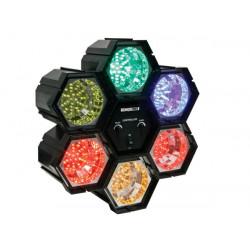 Jeu de lumiere 6 modules spots a led multicolore modulateur vdll6rl 6x36 leds velleman