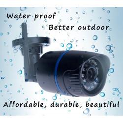 1080p 6mm wasserdichte IP-Farbvideokamera mit 220V Netzteil