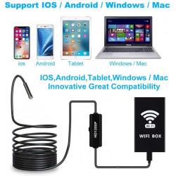 Camera endoscope 5m usb wifi sans fil 8 led pour iOS iPhone Android Windows Mac