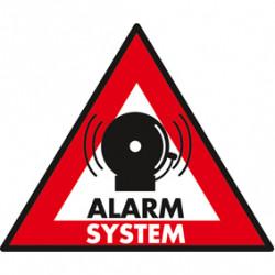 Etiqueta disuasiva senal sistema alarma addesiva alarm system protection