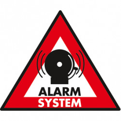 Etiquette dissuasive panneau sticker systeme alarme autocollant adhesif system protection