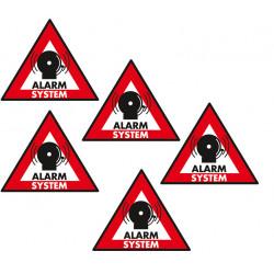 Etiquette dissuasive 5 pcs panneau sticker sec st as systeme alarme autocollant adhesif protection