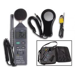 5 in 1 Circondario Meter luce misuratore di decibel termometro metro igrometro anemometro