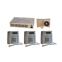 pack autocommutateur 8 lignes 32 postes central telephonique pabx analogique téléphone