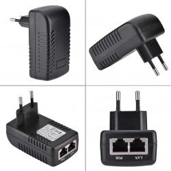Alimentazione 220 v 48 V 0,5 A POE Ethernet iniettore Adattatore IP Fotocamera Telefono
