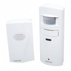 Detecteur mouvement sonnette carillon alarme sec sas-apw10 securite radar infrarouge detection