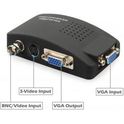 La señal de vídeo al convertidor de tv vasmon2n modulador del transmisor de señal vga